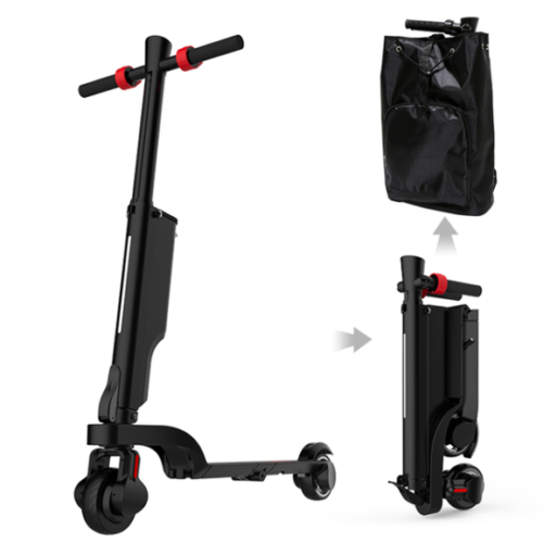 fits in the included backpack Ciclotek X6 foldable e-Scooter
