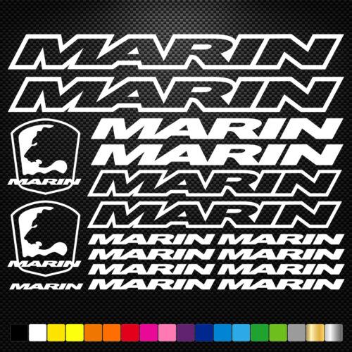 Marin 17 Stickers Autocollants Adhésifs Vtt Velo Mountain Bike Dh Freeride