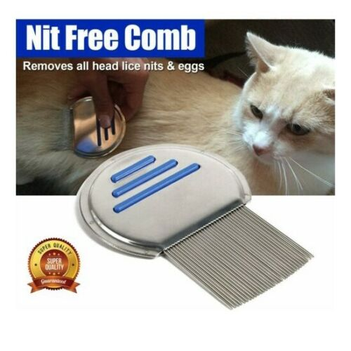 Pet Nitty Gritty Nit Free Comb Removes All Head Lice Nits Eggs Steel Metal Head