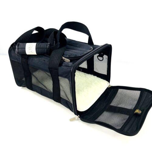 Medium Black and OlvitPet Medium Denta Bar Treats Sherpa Travel Delta Air Lines Pet Carrier