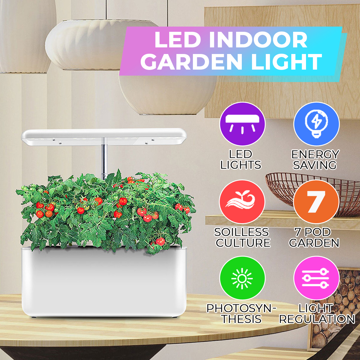 Ecoo Grower Igs 10 Indoor Garden Grow System Soil Free Indoor Gardening System 35w Indoor Led Plant Grow Lighting Desk Lamp Smart Hydroponic Herb Garden Kit White Buy Products Online With Ubuy Thailand In Affordable