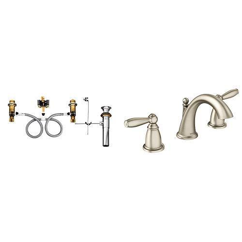 MOEN T4943BN Brantford 2-Handle Roman Tub Faucet Trim Kit in Brushed Nickel