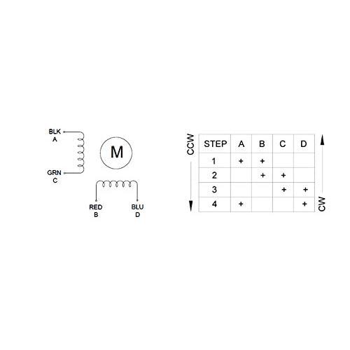 48mm 4 Lead 3D Printer//CNC For Nema 17 Stepper Motor Bipolar 2A 59Ncm 83.6oz.in