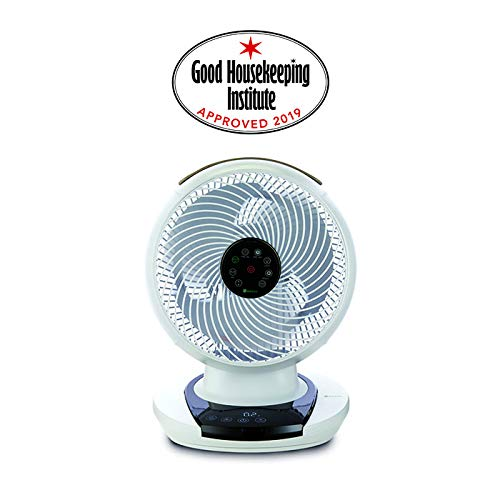 Desk Fan Low Noise White Energy efficient Bedroom Whole Room Cooling Meaco MeacoFan 1056 Air Circulator