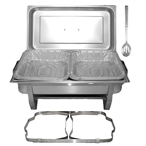 Tigerchef Chafing Dish Buffet Set, Disposable Buffet Warmers