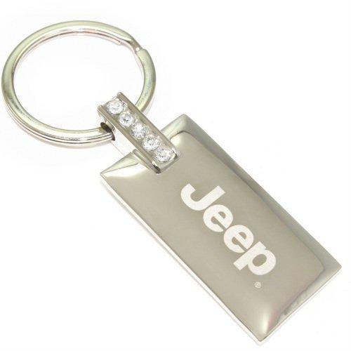 Jeep Rubicon Navy Blue Logo Metal Aluminum Valet Pull Apart Key Chain Ring Fob