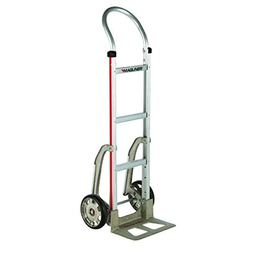 500 lb Capacity Inc. 4-Ply Pneumatic Wheels Curved Back Frame Magliner HRK55AUA43 Self-Stabilizing Hand Truck Vertical Loop Handle