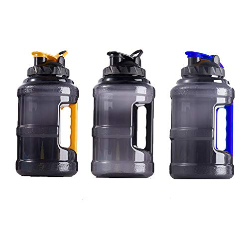 2.5L Large Water Bottle Training Camping Running Gym Fitness BPA Free Handle