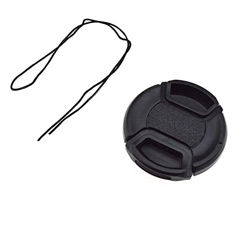 40.5mm Sony Alpha a5100 Lens Cap Center Pinch + Lens Cap Holder Nw Direct Microfiber Cleaning Cloth.