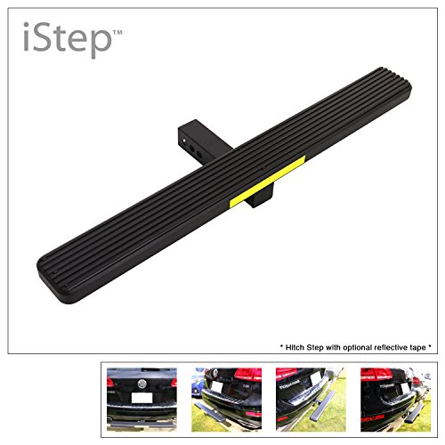 """OKLEAD Universal Hitch Step Anti Slip and Rust Towinjg Bumper Guard Black Hitch Steps+Hitch Lock for Most Cars,SUV,Trucks,Pickups Fits 2/"""" Receivers"""