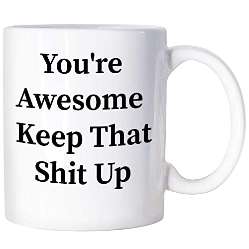 Buy Thank You Gifts For Men Congratulations Gifts You Re Awesome Coffee Mug Congratulations Encouragement Inspirational Gifts For Men Women Going Away Gifts For Coworker Online In Thailand B07tt6w4r4