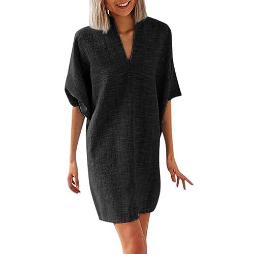Newlyblouw Fashion Tops,Women Summer Casual Loose Shirt Boho Star Print Short Sleeve Comfy Soft Slim Blouse Tee Tunic