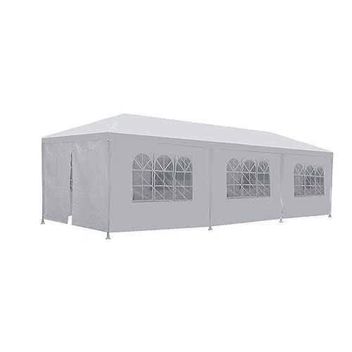 Party Tents 10/'x30/' Outdoor Canopy Wedding Waterproof Tent Gazebo w//5 Side Walls