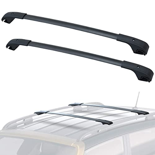 ECCPP 2X Roof Rack Cross Bar Roof Rack Cross Bars Luggage Cargo Carrier Rails Fit for 2014-2018 Nissan Rogue Sport Utility 2.0L 2.5L,Silver Aluminum Roof Mounted Roof Rack Cross Bar Set