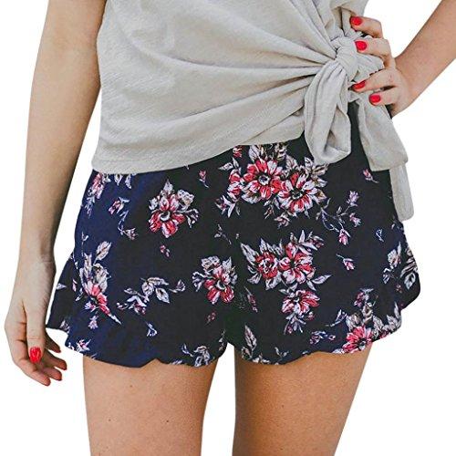 Summer Clearanc!Women Casual Cotton Linen Shorts Elastic Waist Slim Lady Short Pants by-NEWONESUN