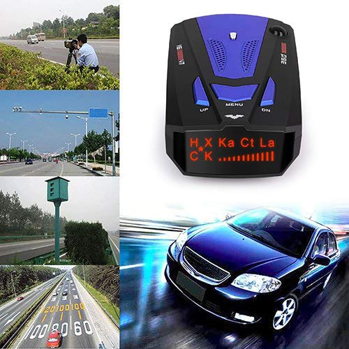 City//Highway Mode Radar Detector for Cars HOLDJOVEMK Radar Detector FCC Certification Blue Voice Prompt Speed