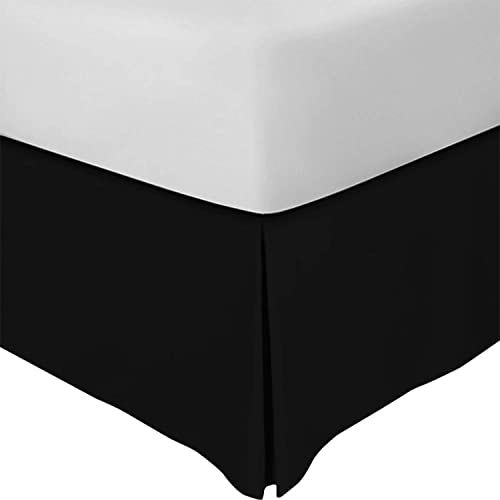 Full Zen Bamboo/Ultra Soft/Bed Skirt -/Premium,/Eco-friendly Black and Wrinkle Resistant Rayon Derived From Bamboo Dust Ruffle/with/15-inch Drop Hypoallergenic
