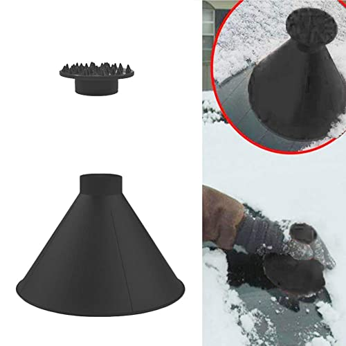 Blue and Black Home Kitty Ice Scraper Magic Funnel Round Windshield Ice Scrapers Magic Car Cone-Shaped Snow Removal Tools