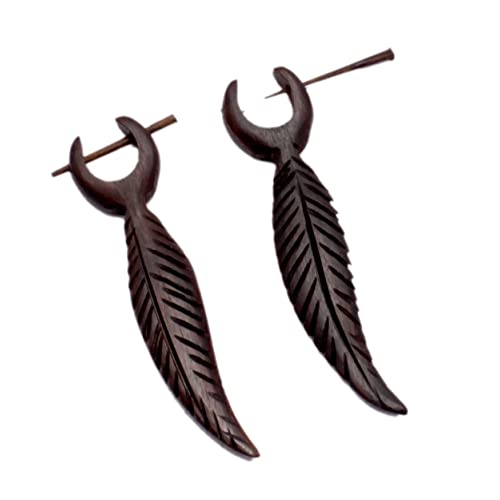 Big earrings Gypsy Boho gift Wood jewelry Boho chic Bohemian jewels Wood earrings Brown wood Ethnic Hippie jewelry Long earrings