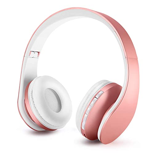 Zapig Wireless Kids Headphones With Microphone Children S Wireless Bluetooth Headphones Foldable Bluetooth Stereo Over Ear Kids Headsets Rose Gold Buy Products Online With Ubuy Thailand In Affordable Prices B07jvntr1t