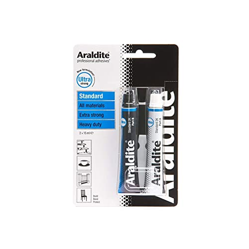 Buy Araldite Heavy Duty Epoxy Adhesive Ultra Strong 2 Part Epoxy Glue Solvent Free Professional Grade Strength For All Materials Slow Cure For Bonding And Repairing Standard 2 X 15ml