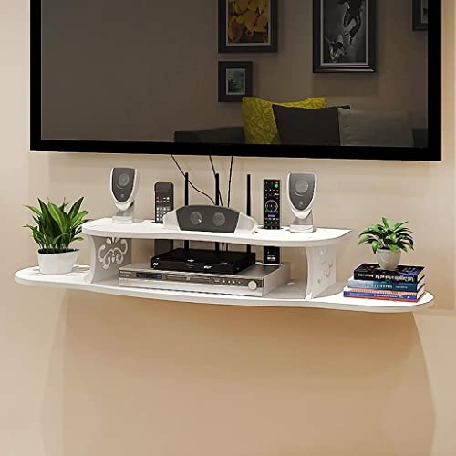Gdf Floating Shelves Wall Mounted Tv Cabinet Tv Shelf Wall Mounted Media Console Flaoting Tv Stand Suspended Tv Rack Set Top Box Bracket Buy Products Online With Ubuy Thailand In Affordable Prices B07zp4ybs6