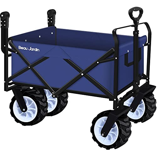 Large Capacity Outdoor Folding Wagon Cart Collapsible Utility Buggy Picnic Camp