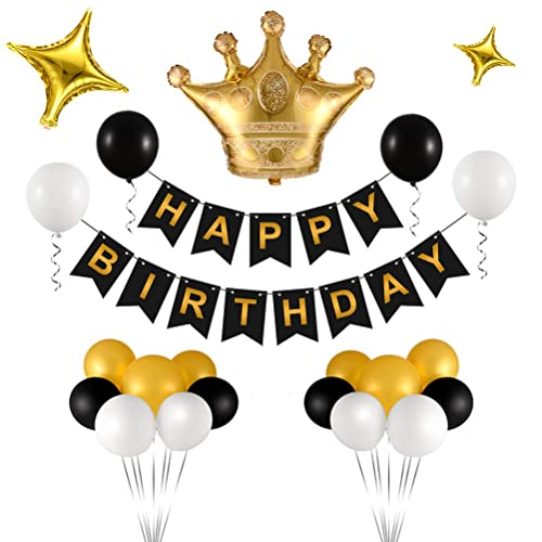 Party Packs Decorations for Women//Mens Birthday Decorations Gold Happy Birthday Decorations,Happy Birthday Banners Birthday Decorations