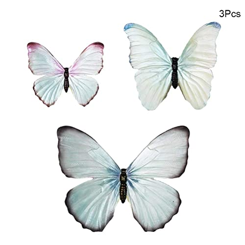 Buy Trycooling Creative Resin Butterfly Wall Decor Set Of 3 Hand Painted Sculpted Wall Art Product Indooroutdoor 3d Butterfly Decorative Blue Online In Thailand B07rlz1bww