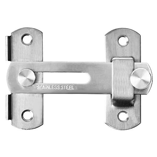 2Pcs Stainless Steel Flip Latch Gate Latches Bar Safety Pet Gate Door Lock Latch 4