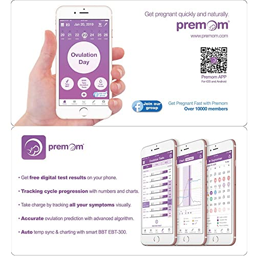Powered by Premom Ovulation Predictor iOS and Android App Easy@Home Ovulation Test Strips 15 Pack Fertility Tests Ovulation Predictor Kit EZW2-S-15/… FSA Eligible