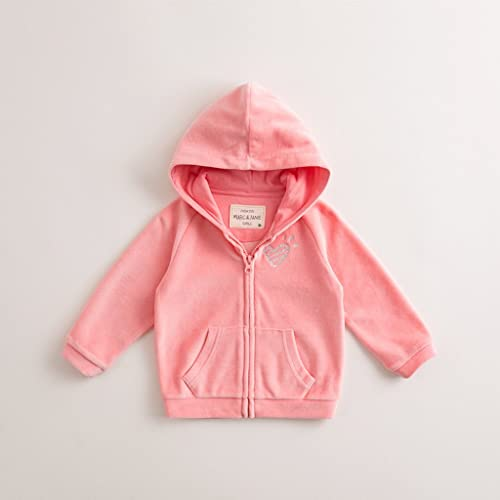 marc janie Girls Tracksuit 2 Piece Solid Color Active Jacket and Pants Set
