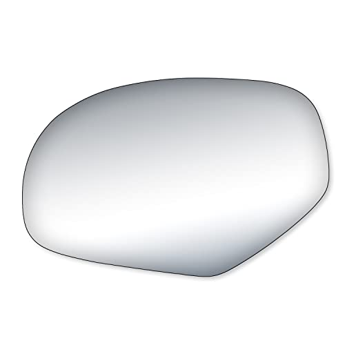 Fit System 61034F Ford Driver Side Replacement OE Style Black Chrome Manual Folding Mirror