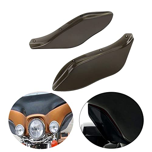 D DOLITY Motorcycle Left Right Wind Deflector Side Wings Windscreen Fairing Spoiler Shield for Harley Touring Tri Glide 2014-2019 Black