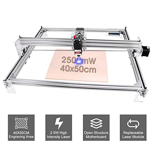 VEVOR CNC Machine 400x 500 mm CNC Laser Engraver 500mW CNC Router Kits Adjustable 2 Axis For Wood Leather Plastic Logo Picture Marking Printer