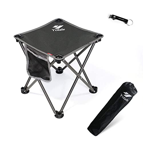 Portable Chair for Camping Fishing Hiking Gardening and Beach Folding Camping Stool Camping Seat with Carry Bag Gray