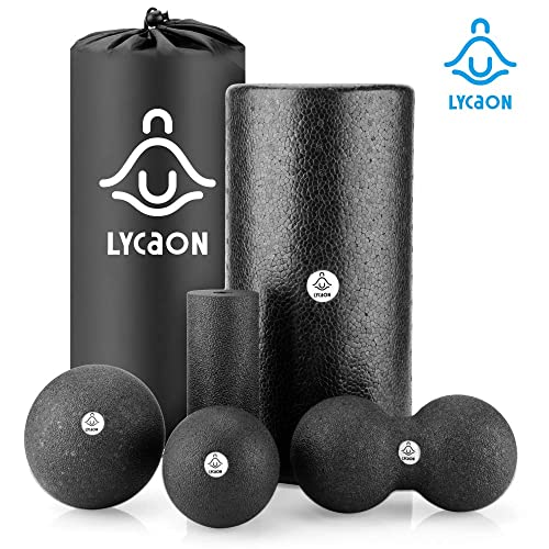 12 Inch High Density Trigger Point Deep-Tissue Muscle Massage 9HORN Foam Roller 1 Foot Myofascial Release /& Therapy in Black