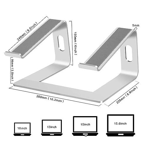 Portable Holder Ergonomic Elevator Metal Riser for 10 to 15.6 inch PC Desktop Computer Soundance LS1 Silver Aluminum Laptop Stand for Desk Compatible with Mac MacBook Pro//Air Apple 12 13 Notebook