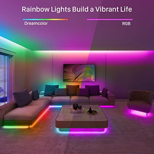 16 4ft Waterproof Phone Controlled Color Changing Light Strip For Party Govee Dreamcolor Led Strip Lights