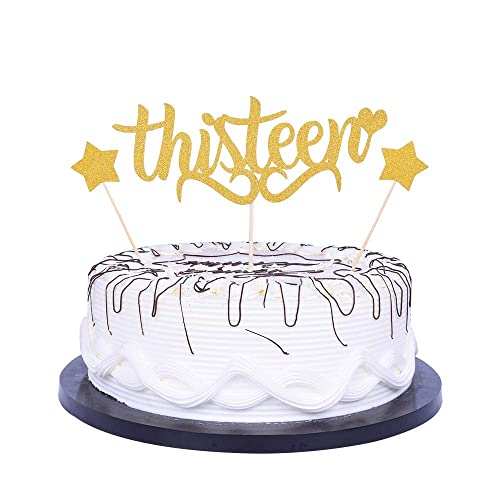 Magnificent Yuinyo Happy 13Th Birthday Cake Topper Gold Party Decoration Funny Birthday Cards Online Ioscodamsfinfo