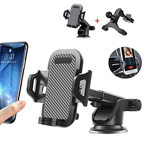Black Dashboard car Bracket car Phone Bracket Universal Suction Cup 360 /° Rotating Bracket Mobile Phone car Bracket Sam Suitable for iPhone 11 Pro Max Xs Max XR X 6S 7 8 Plus Front Glass