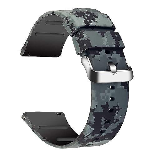 Armband 22mm nylon rot-weiß-lila-pink für Samsung Galaxy Gear S3 Classic