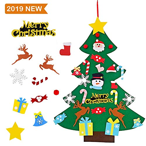 Buy Dabao Diy Felt Christmas Tree With 26pcs Xmas Pastable Ornaments 3 2ft Diy Christmas Tree Wall Hanging Xmas Gifts Christmas Home Decorations Merry Christmas Online In Thailand B07xbrnh75