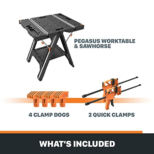 Quick Clamps And 2 4 Clamp Dogs Worx Pegasus With