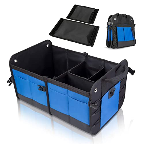 2 Pack Auto Truck Organizers-Collapsible Heavy Duty Storage Cargo Containers COCOBELA Trunk Organizer for Car