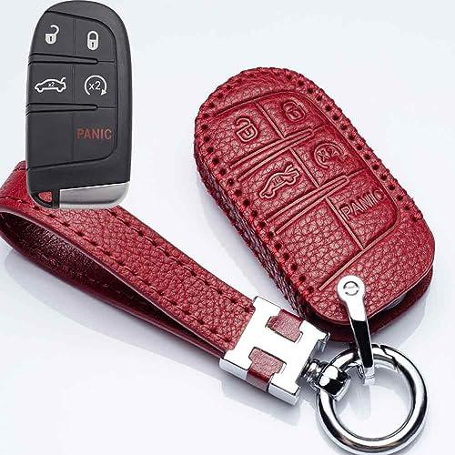 4 Buttons Key Case For Cherokee Compass Chrysler 300C Key Bag Holder Fob Shell