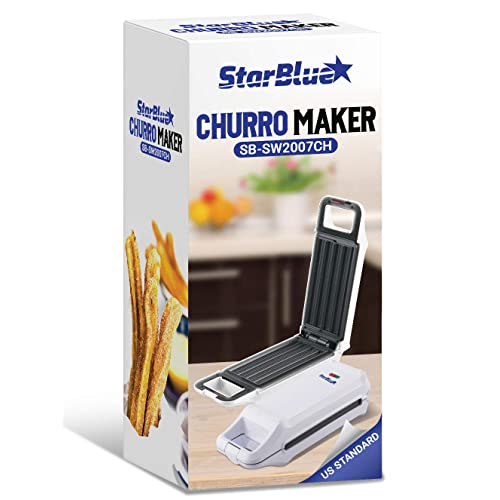 Ltd Cook Healthy and Oil-free Churros in just minutes AC 110-120V 50//60Hz 760W Huayu Electrical Appliance Group Co SB-SW2007CH Churro Maker by StarBlue with FREE Recipe e-Book