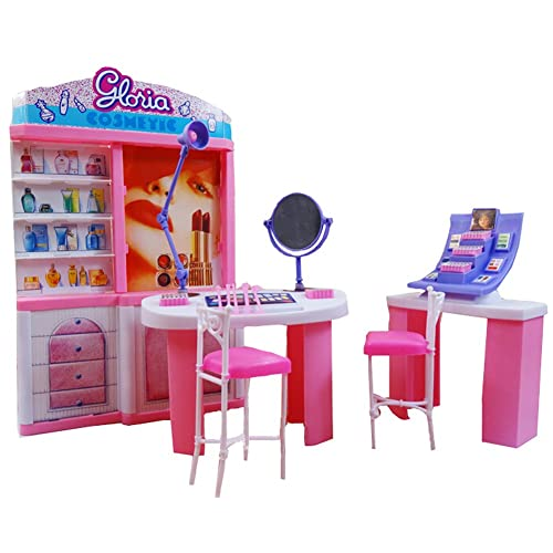Dressing Table Chair Accessories Set For Barbies Dolls Bedroom Furniture AG/_ HK