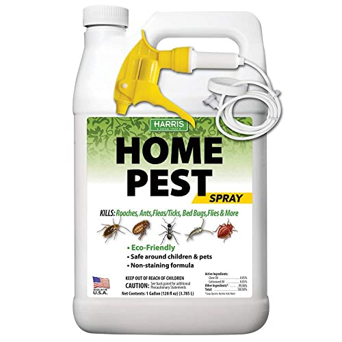 Harris Natural Home Insect Killer Liquid Gallon Spray With Odorless Non Staining Residual Formula Kills Ants Bed Bugs Roaches Spiders Stink Bugs Fleas Mosquitos Pantry Moths Flies More