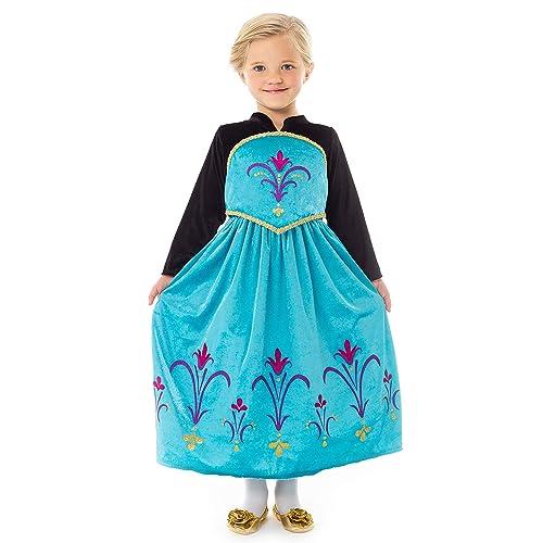 ELSA /& ANNA UK Girls Party Outfit Fancy Dress Snow Queen Princess Halloween Costume Cosplay Dress UK-CNDR5 2-3 years, UK-CNDR5